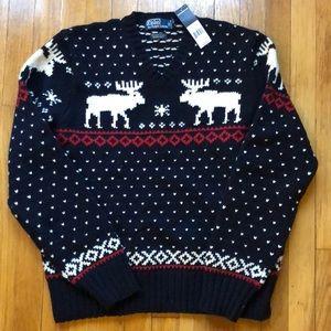 NWT Polo by Ralph Lauren merino wool sweater, L
